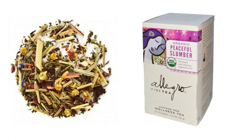 david's tea and allegro peaceful blend tea