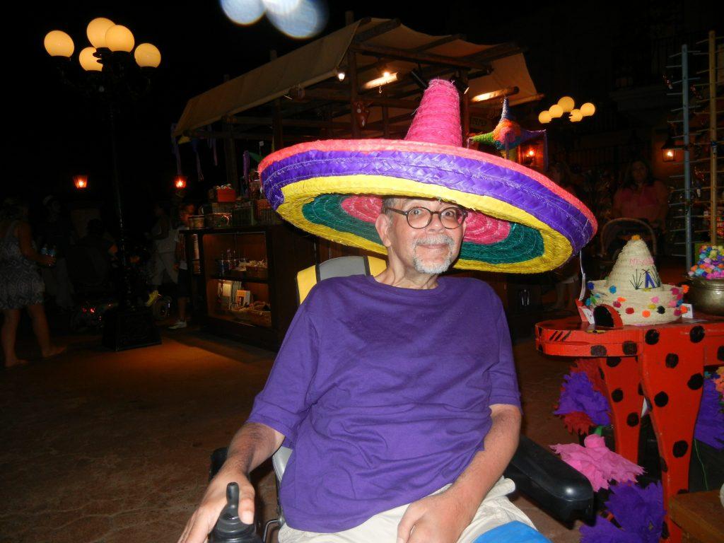 Ben at the Mexican Pavilion at Epcot, Walt Disney World