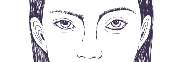 illustration of a woman's face