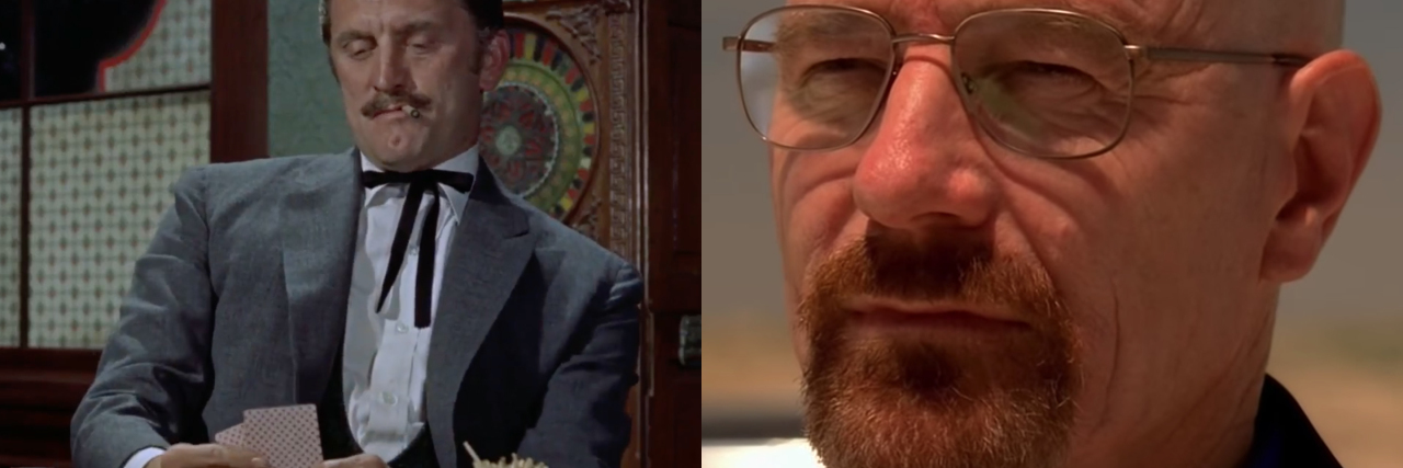 split image of gunfight at the OK corall and breaking bad
