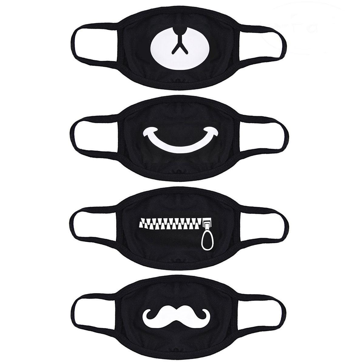 kpop black and white face masks