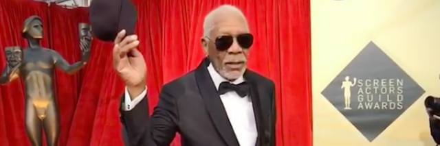 morgan freeman at the sag awards