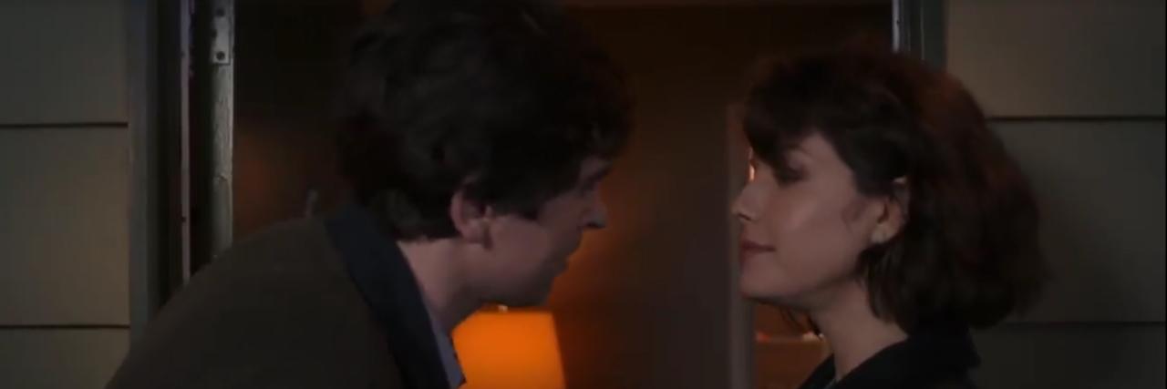 "Dr. Shaun Murphy kisses Lea on ""The Good Doctor."""