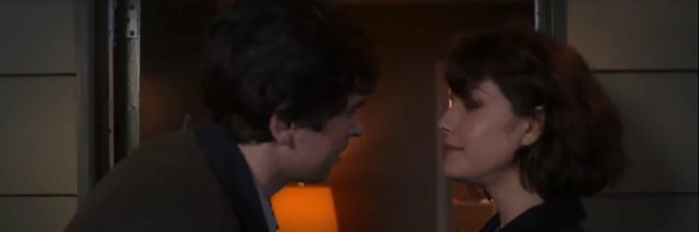 "Dr. Shaun Murphy kisses Lea on ""The Good Doctor."""