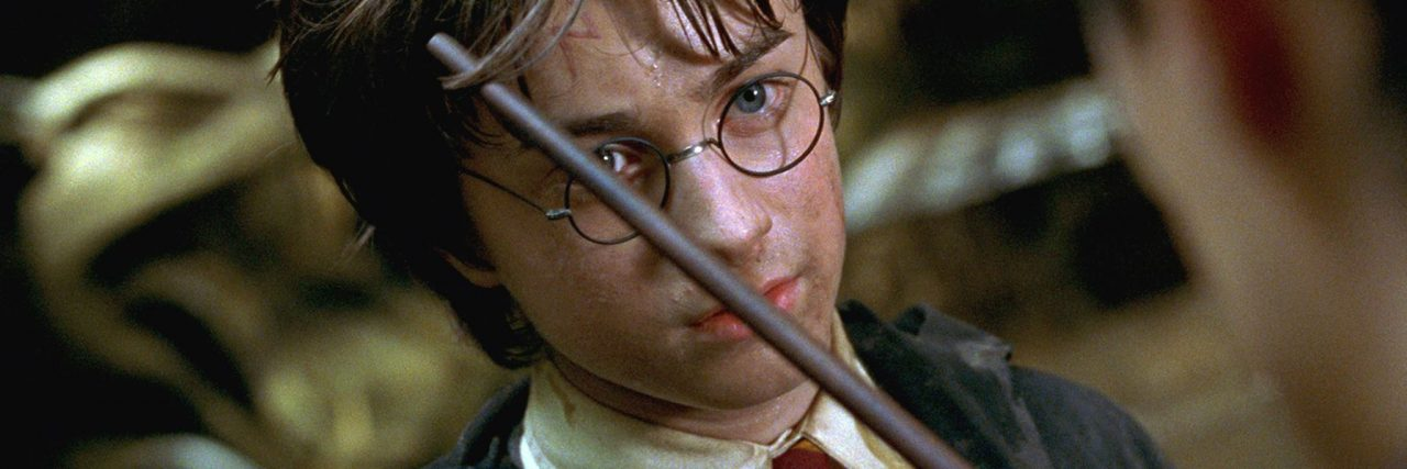harry potter showing his scar