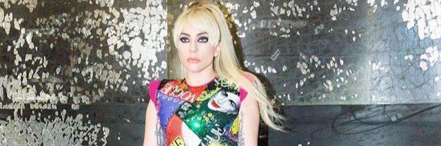 lady gaga wearing colorful leotard