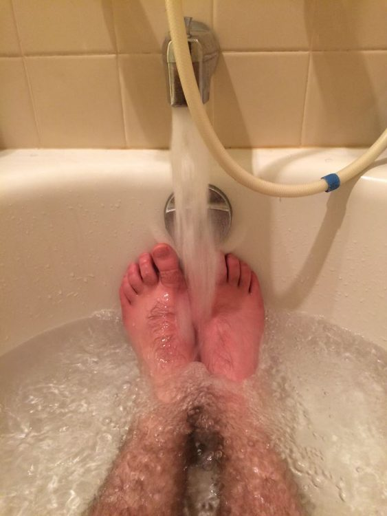 feet in tub