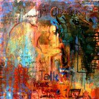 mixed media art by heather thompson