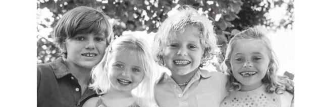 Four Bowerman children