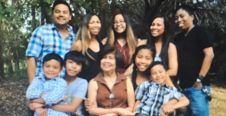 Jesse's smiling family