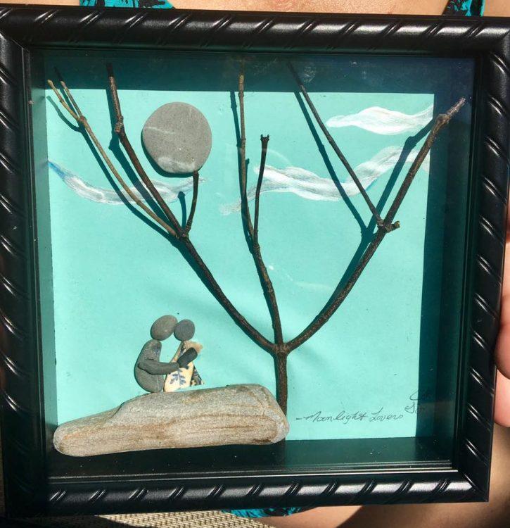 "Stone Art, ""Moonlit Lovers"""