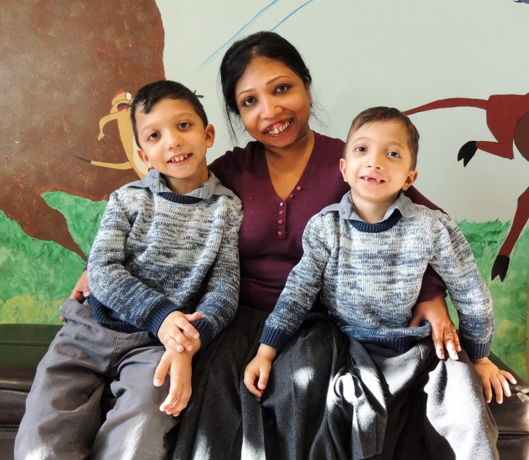 neena and her two sons.
