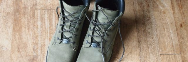 Walking shoes.