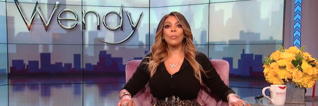 wendy williams sitting in armchair on her show's stage