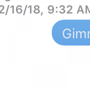 text message that reads 'gimme a good read, doc'