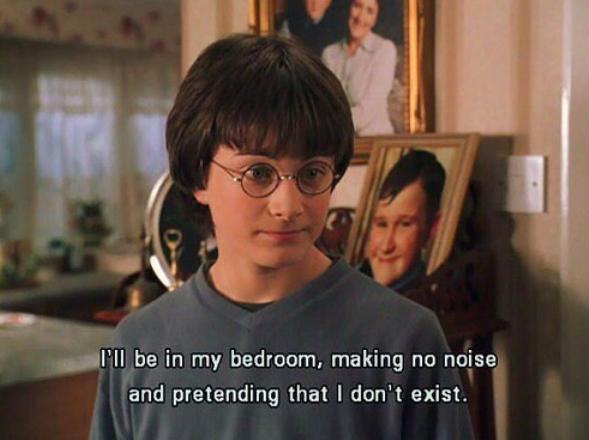 harry potter in my room pretending I don't exist