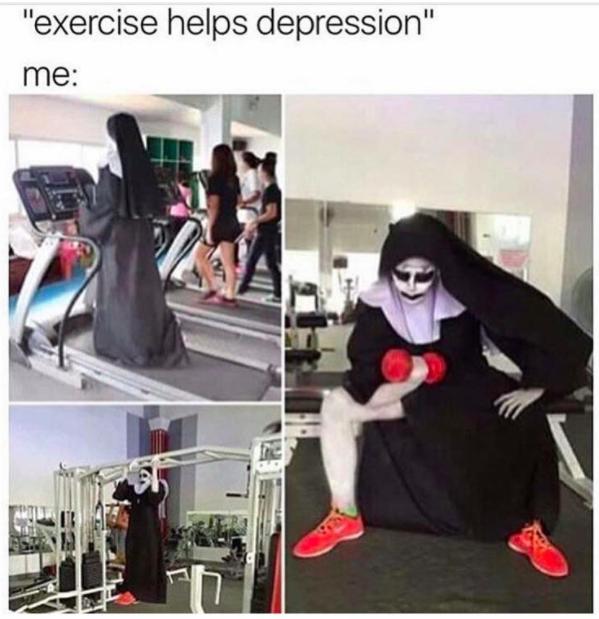 exercise helps depression meme