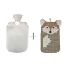 hot water bottle and cover, and pelvic seat cushion