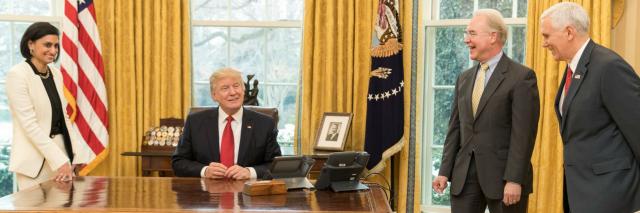 Seema Verma, Donald Trump, Mike Pence