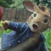 Peter Rabbit throwing a blackberry