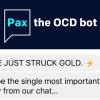 Pax logo and chat