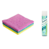 clairsonic facial cleansing brush, norwex wash cloths and batiste dry shampoo