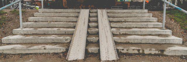 Steep ramp in Copenhagen, Denmark.