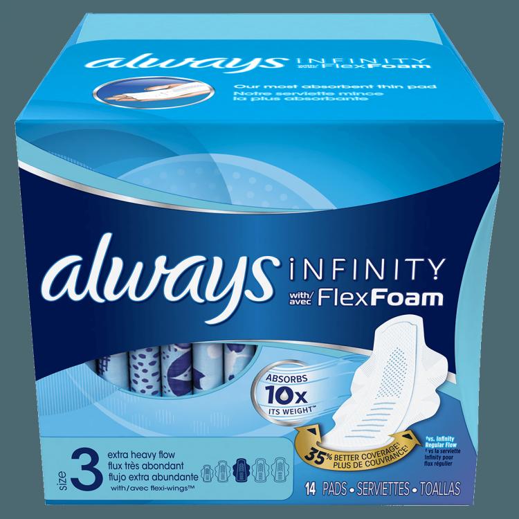 always infinity flex foam pads