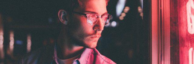 man neon lights
