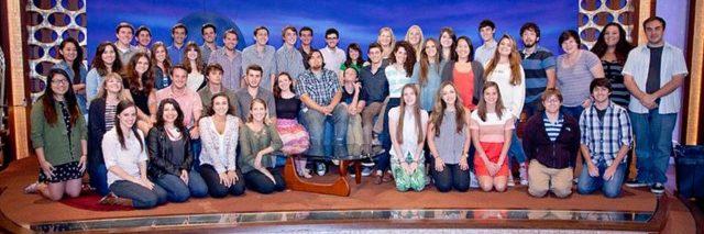 interns for the Conan O'Brien show on set