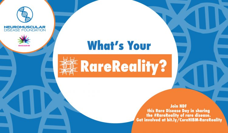 """What's Your #RareReality? An image for the neuromuscular disease foundation"