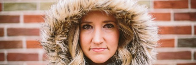A photo of the writer in a winter jacket.
