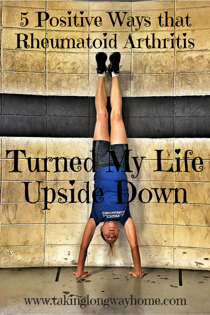 A picture of the writer, standing upside down.
