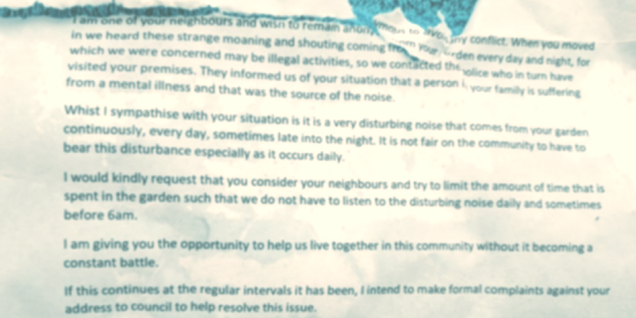 Mom Receives Anonymous Letter From Neighbor About Her