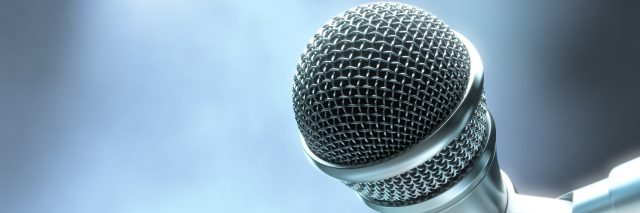 Close up of microphone.