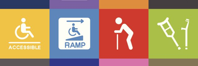 multi-colored icons with various disability symbols