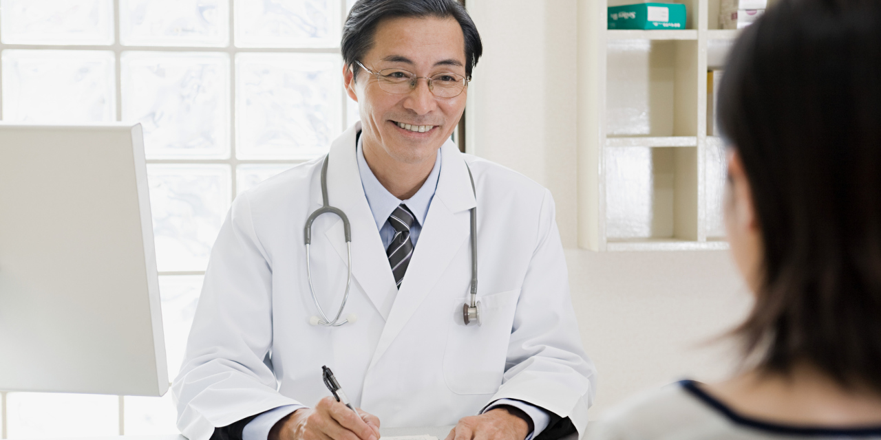 Asian doctor, art print