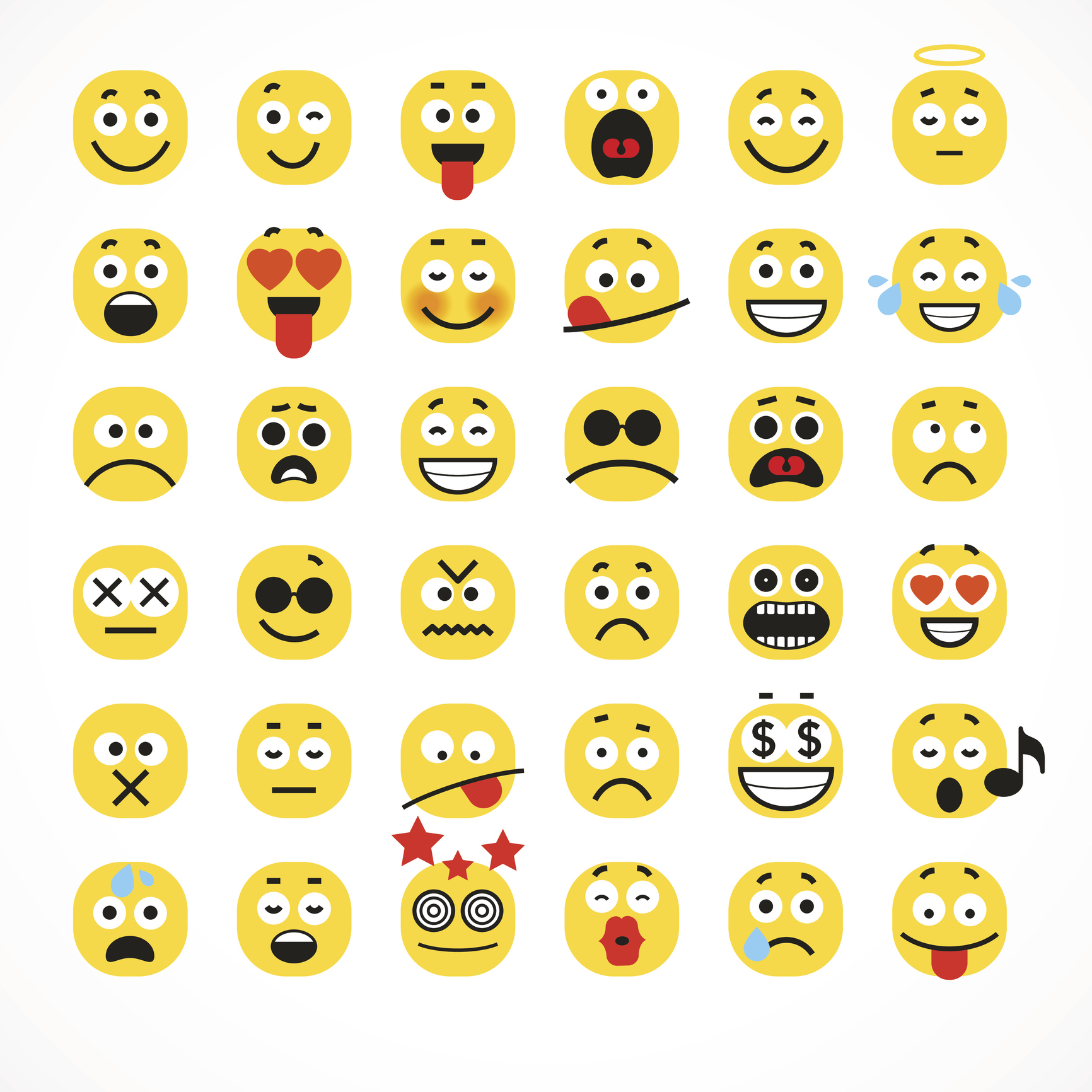 A collection of emoji faces.