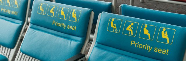 Priority seats reserved for disability.