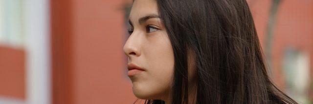 Serious Teen Girl