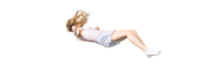 A woman falling