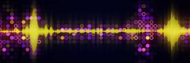 Colorful audio waveform equalizer.
