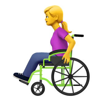 Emoji of woman using a wheelchair