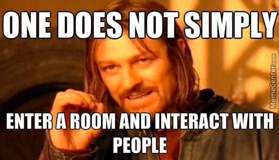 one does not simply socialize with people meme