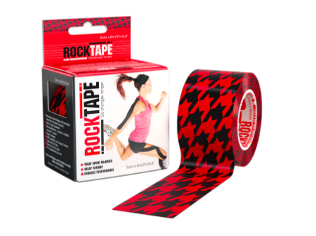 package of rock tape in red houndstooth design