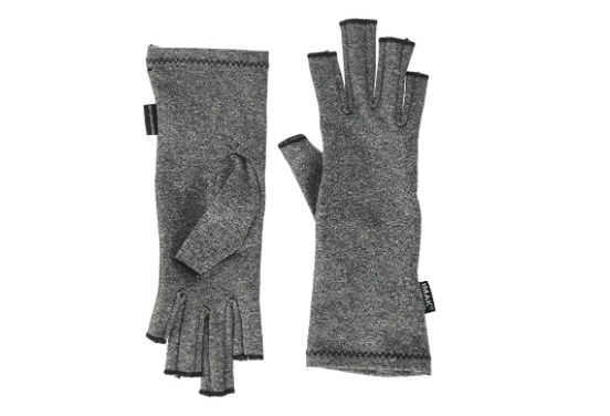 gray compression gloves