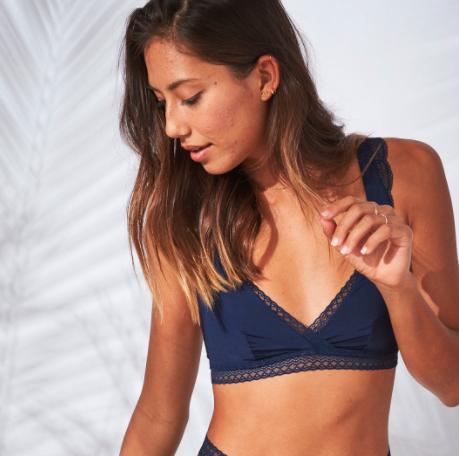 blue lace aerie bra