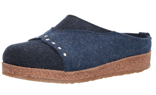 blue wool clogs by haflinger
