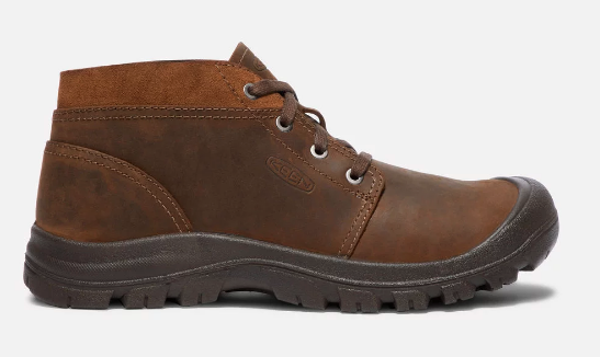 keen brand men's brown leather shoe