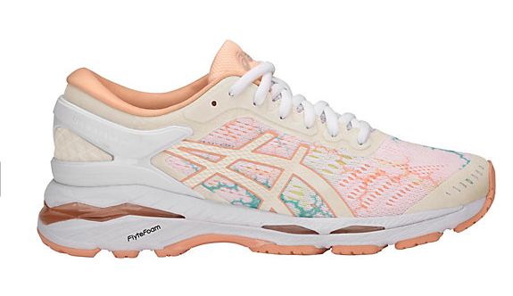 asics sneaker in orange and pink